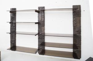 Paul Evans Sculpted Bronze Shelves Preview Image 3