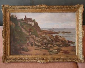 Charles Haigh Wood Signed Seascape Painting Preview Image 1