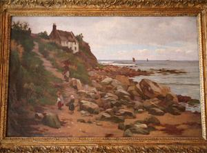 Charles Haigh Wood Signed Seascape Painting Preview Image 2