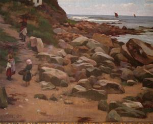 Charles Haigh Wood Signed Seascape Painting Preview Image 3