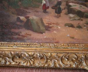 Charles Haigh Wood Signed Seascape Painting Preview Image 4