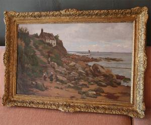 Charles Haigh Wood Signed Seascape Painting Preview Image 5
