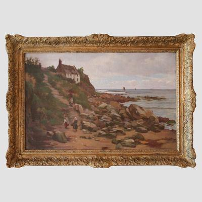 Charles Haigh Wood Signed Seascape Painting Preview