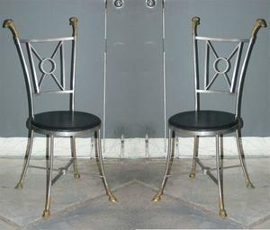 Maison Jensen Steel & Brass Chairs Preview Image 1