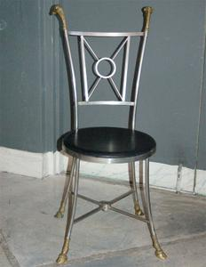 Maison Jensen Steel & Brass Chairs Preview Image 3