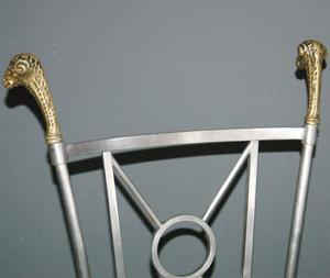 Maison Jensen Steel & Brass Chairs Preview Image 4