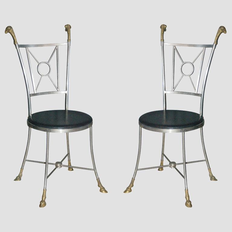 Maison Jensen Steel & Brass Chairs Main Image