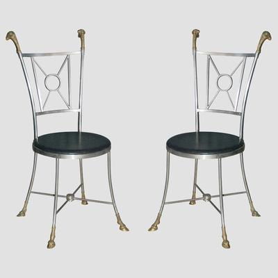 Maison Jensen Steel & Brass Chairs Preview
