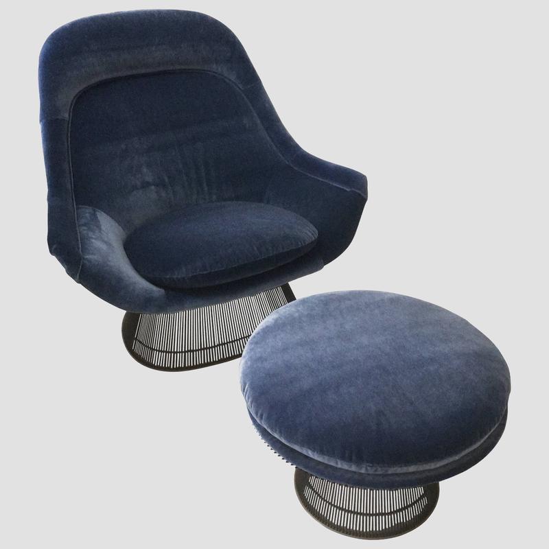 Warren Platner Lounge Chair and Ottoman Main Image