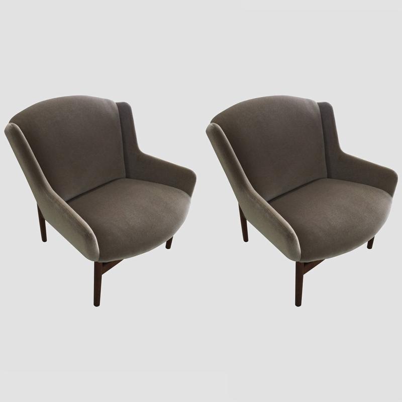 Rare Jens Risom Lounge Chairs Main Image