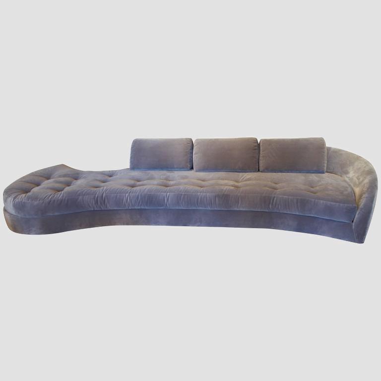 1950's Long Serpentine Sofa Main Image
