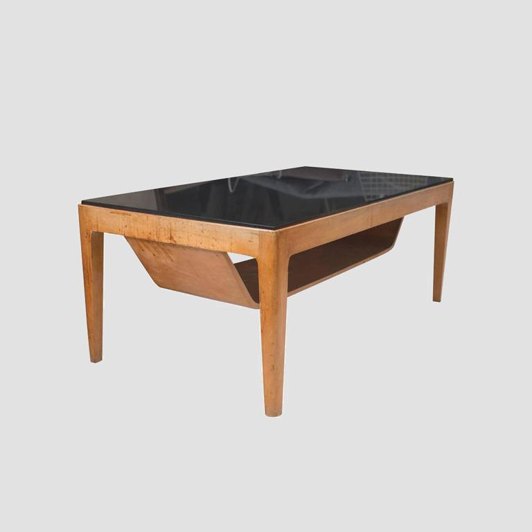 1950's Italian Coffee Table with Nero Andes Top Main Image