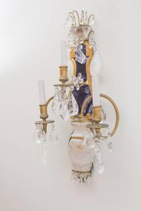 E.F.Caldwell Grand Rock Crystal Sconces Preview Image 1