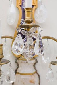 E.F.Caldwell Grand Rock Crystal Sconces Preview Image 2